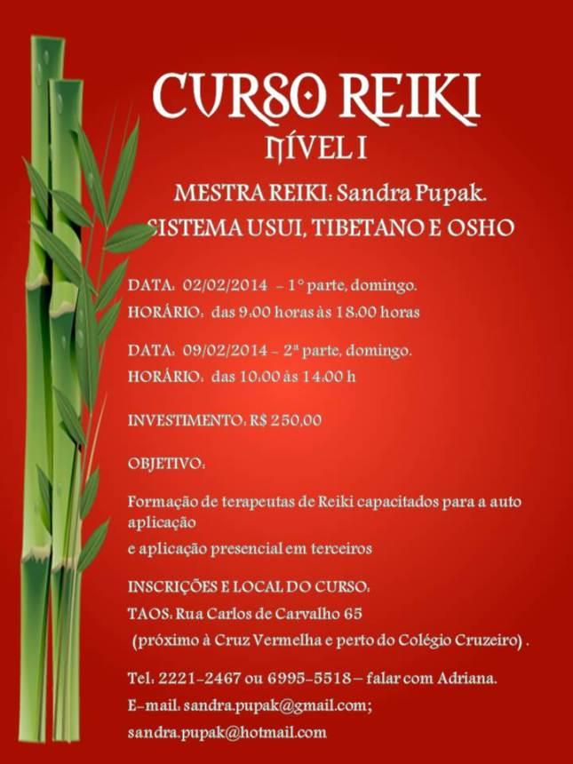 CURSO REIKI NÍVEL 1 - COM SANDRA PUPAK