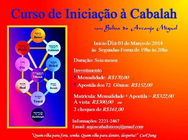 CURSO CABALA - NÍVEL I - 2014