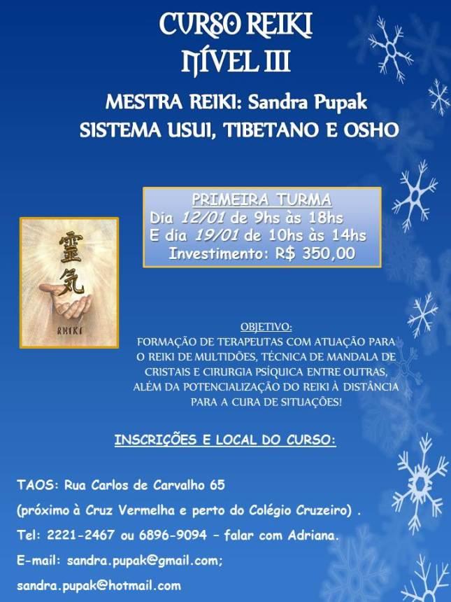 CURSO REIKI NÍVEL 3 - COM SANDRA PUPAK